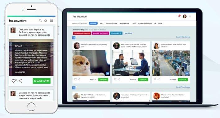 Be-novative: innovációs folyamatokat támogató SaaS platform